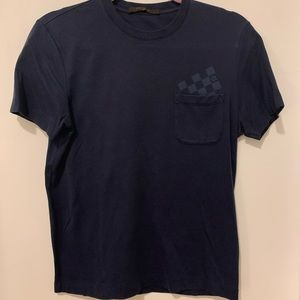 AUTHENTIC Louis Vuitton Damier Pocket T-Shirt
